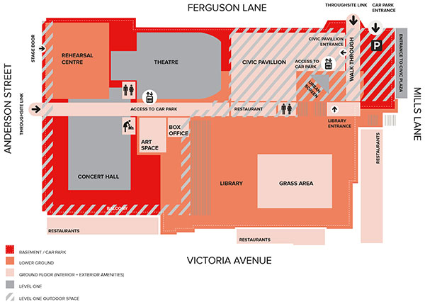 Concourse site map